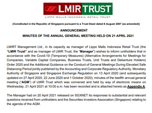 Minutes of the 12th AGM